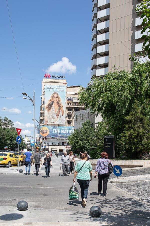 布加勒斯特街市 免版税库存图片