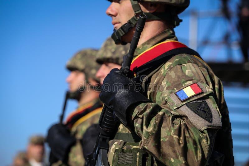 布加勒斯特,罗马尼亚- 2018年10月25日:罗马尼亚特种部队s 免版税库存照片