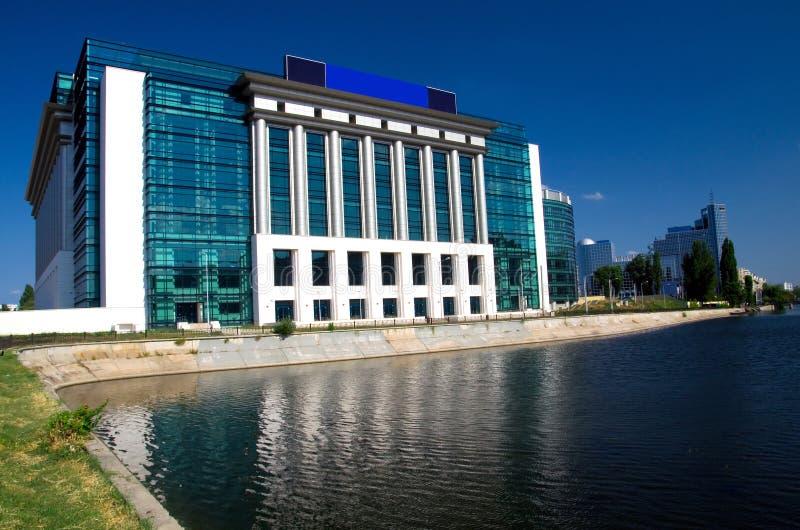 布加勒斯特-罗马尼亚国立图书馆 库存图片