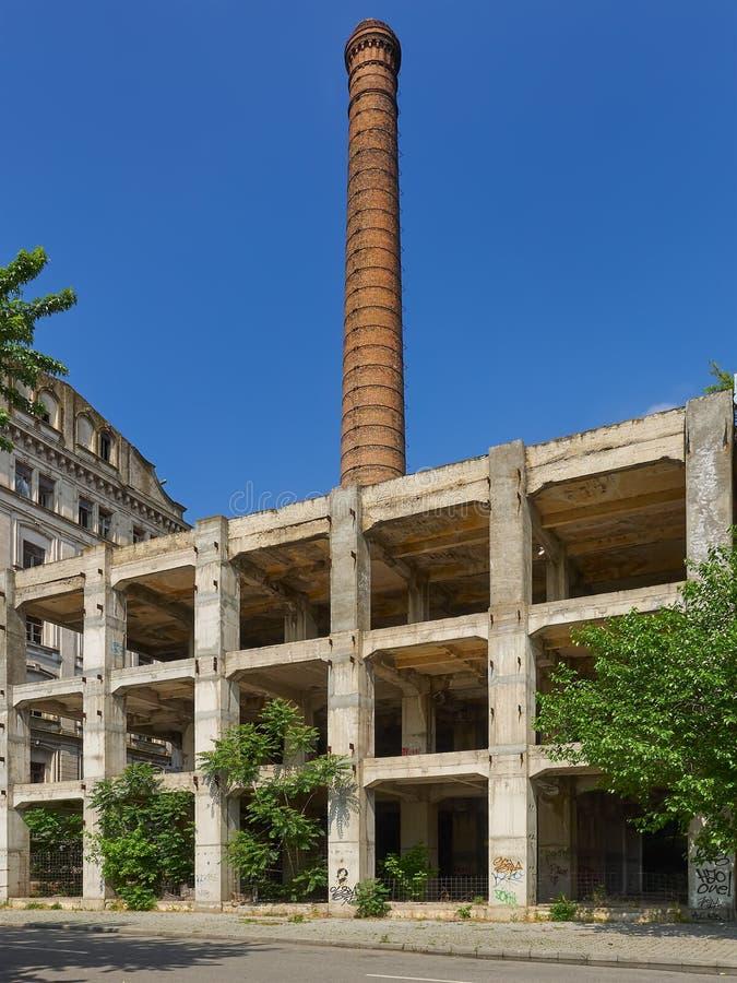 布勒伊拉,罗马尼亚, Violattos面粉加工厂在布勒伊拉 图库摄影