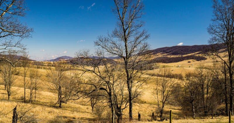 布卢格拉斯谷和后面小河山- 2 库存图片