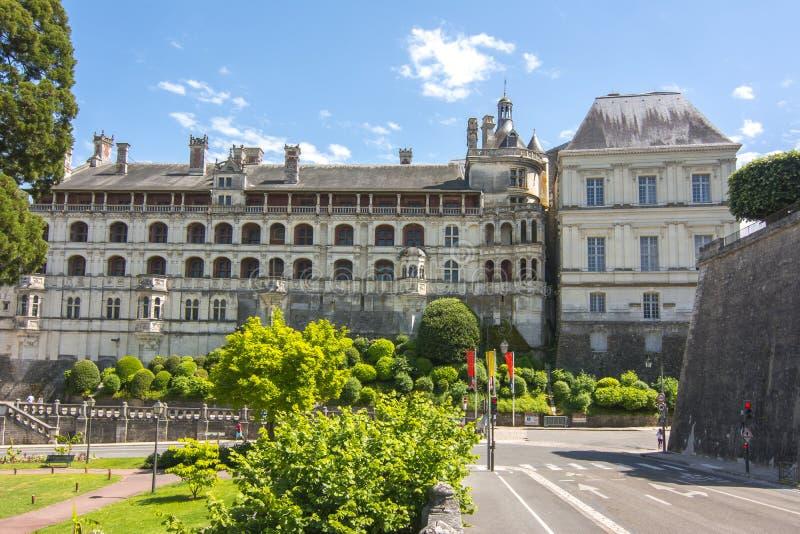 布卢瓦城堡大别墅de布卢瓦在卢瓦尔谷,法国 库存照片