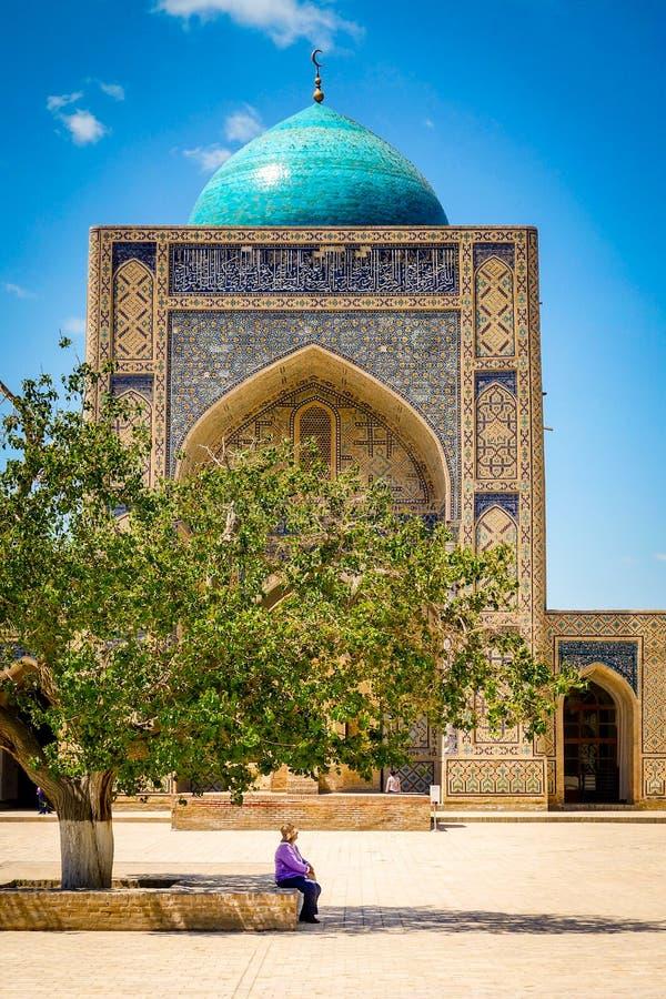 布哈拉kalon清真寺乌兹别克斯坦 免版税库存照片