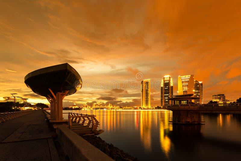 布城桥梁在黎明 免版税库存图片