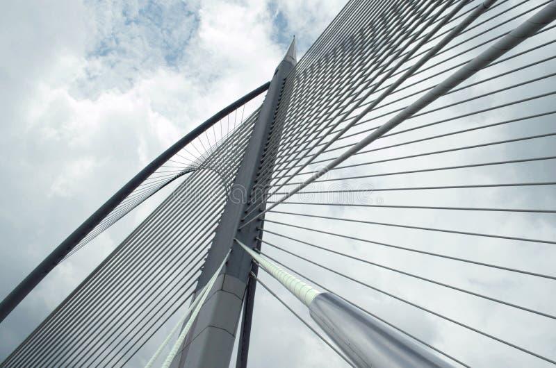布城,马来西亚Seri Wawasan桥梁  免版税库存图片