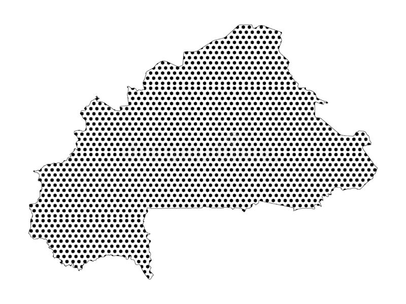 布基纳法索的光点图形地图 向量例证