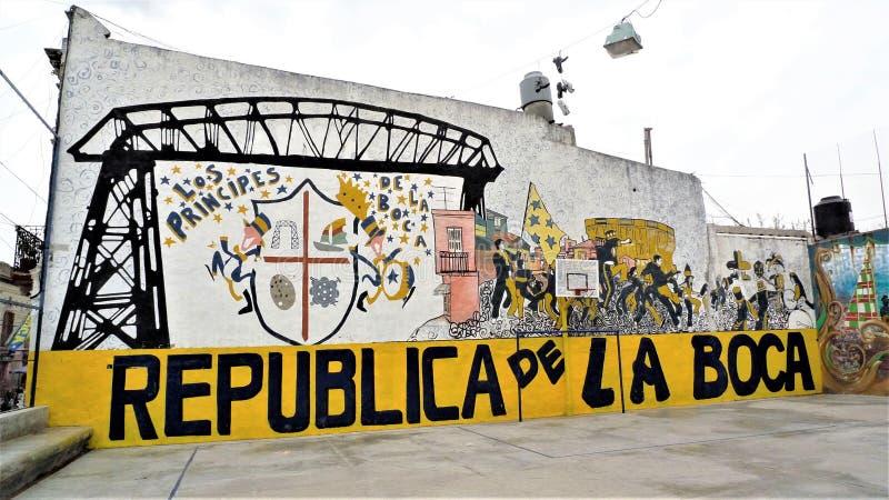 布宜诺斯艾利斯拉博卡邻里 库存照片