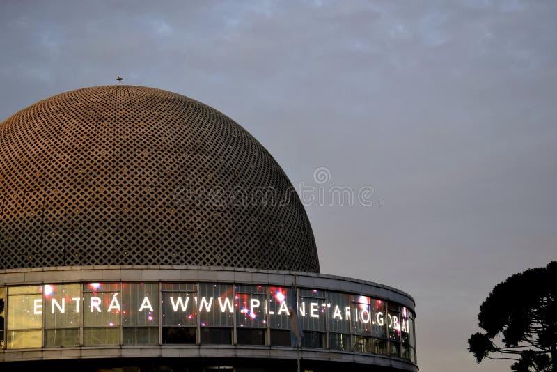 布宜诺斯艾利斯的天文馆在巴勒莫 免版税库存照片