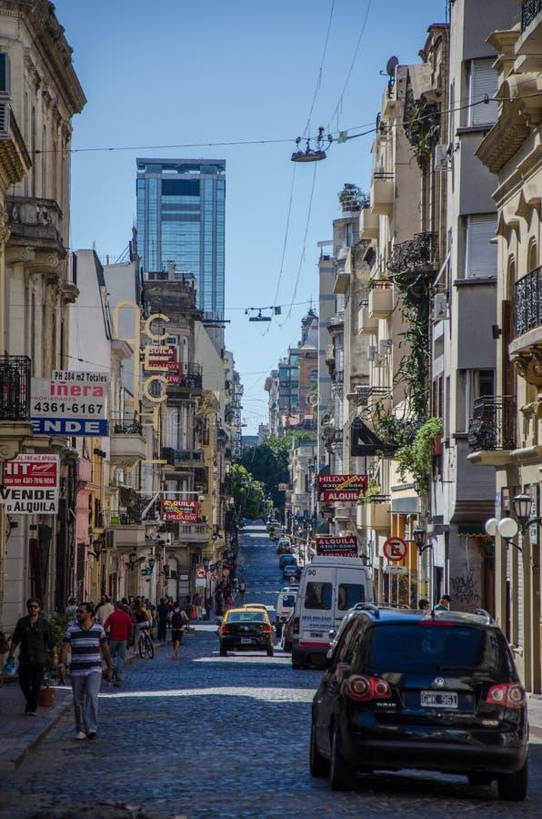 布宜诺斯艾利斯街道 库存照片