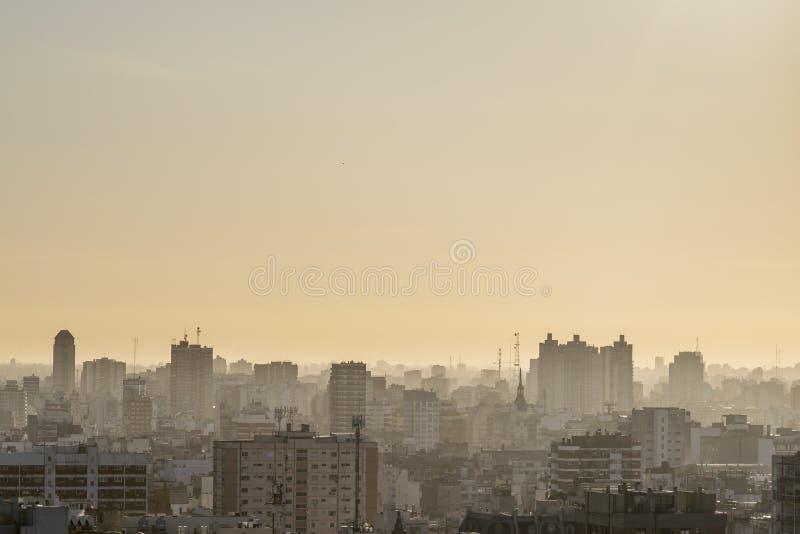 布宜诺斯艾利斯阿根廷鸟瞰图  免版税图库摄影