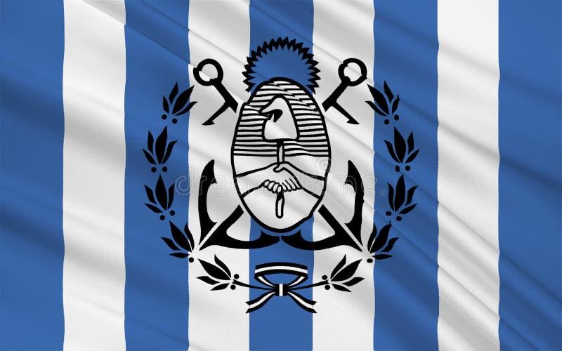 布宜诺斯艾利斯马德普拉塔旗子是一个省在阿根廷 皇族释放例证