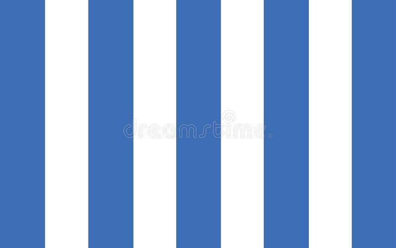 布宜诺斯艾利斯马德普拉塔旗子是一个省在阿根廷 库存例证