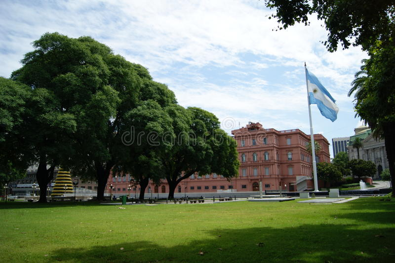 布宜诺斯艾利斯/阿根廷的桃红色议院 免版税库存图片