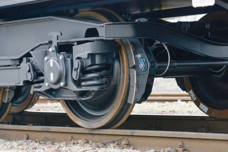 布尔加斯,保加利亚- 2017年1月24日 货物货物火车- bla 免版税库存图片