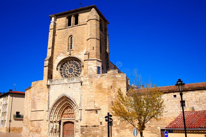 布尔戈斯圣埃斯特万教会门面卡斯蒂利亚西班牙 库存图片
