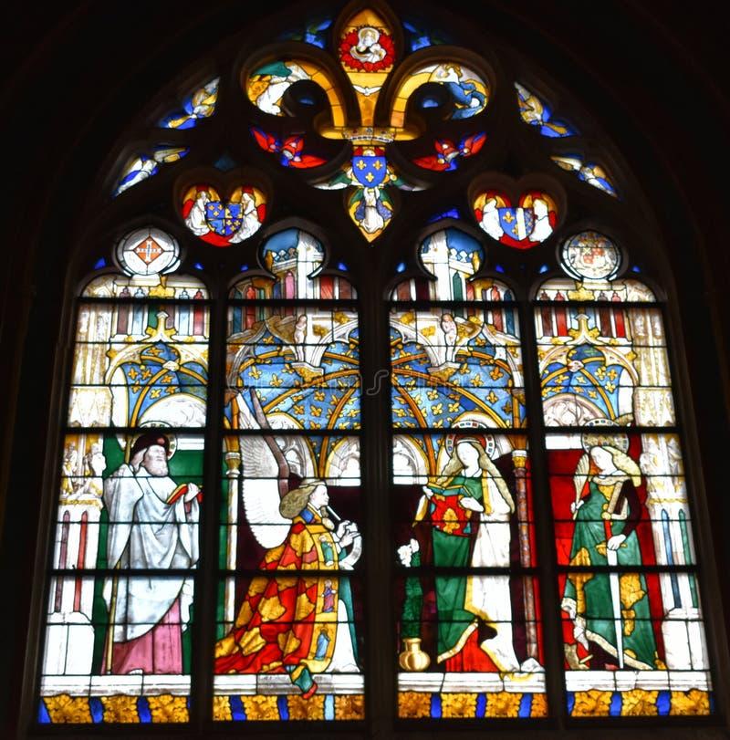 布尔日主教座堂-法国 库存图片