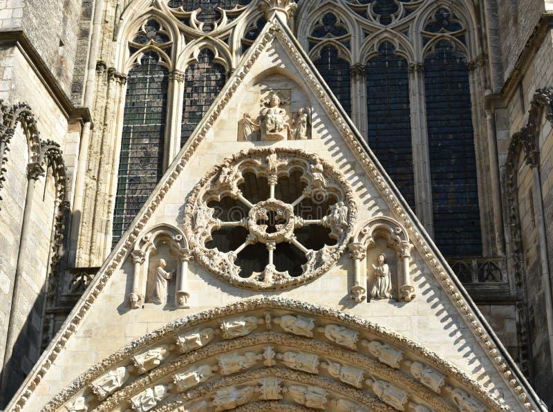 布尔日主教座堂-法国 免版税图库摄影