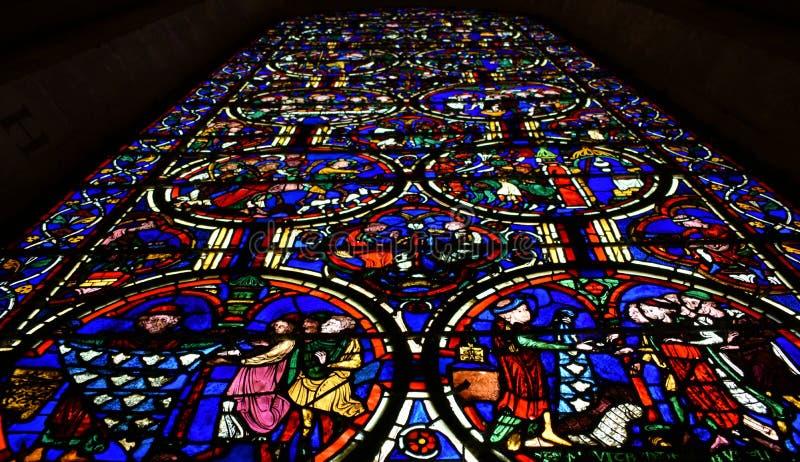 布尔日主教座堂-法国 库存照片