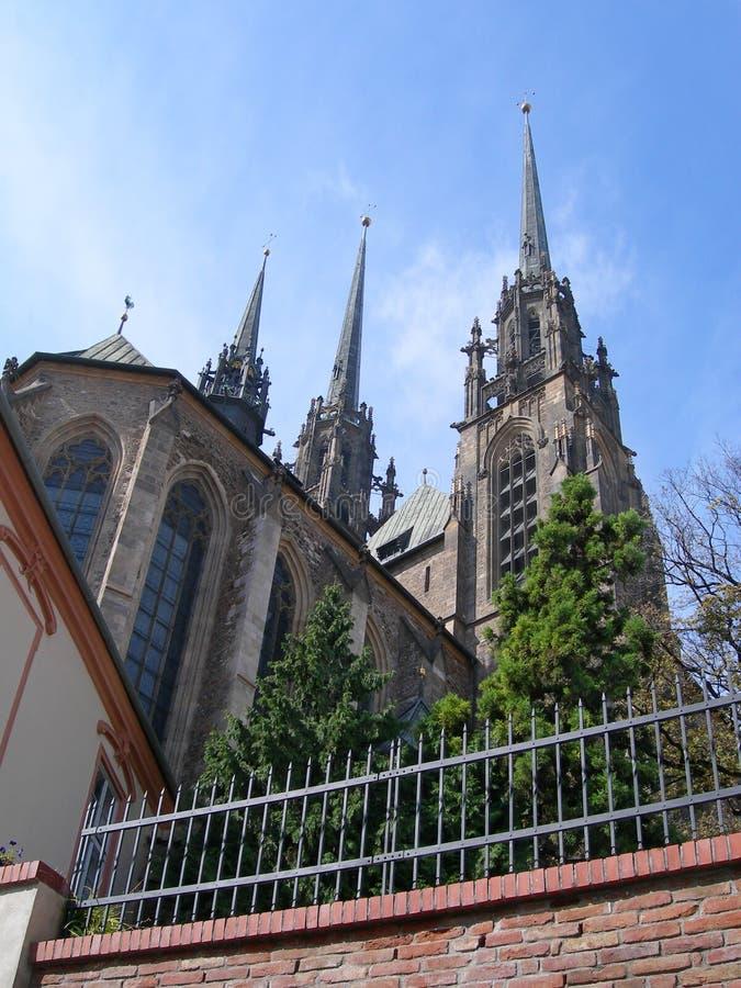 布尔诺大教堂捷克保罗・彼得petrov共和 免版税库存照片