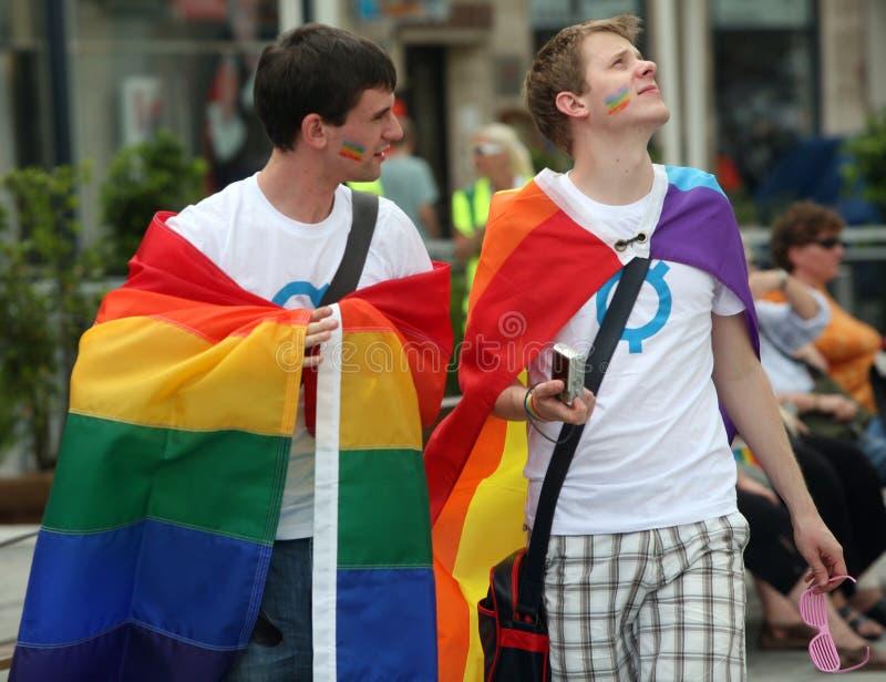 布尔诺游行男同性恋者 免版税库存图片