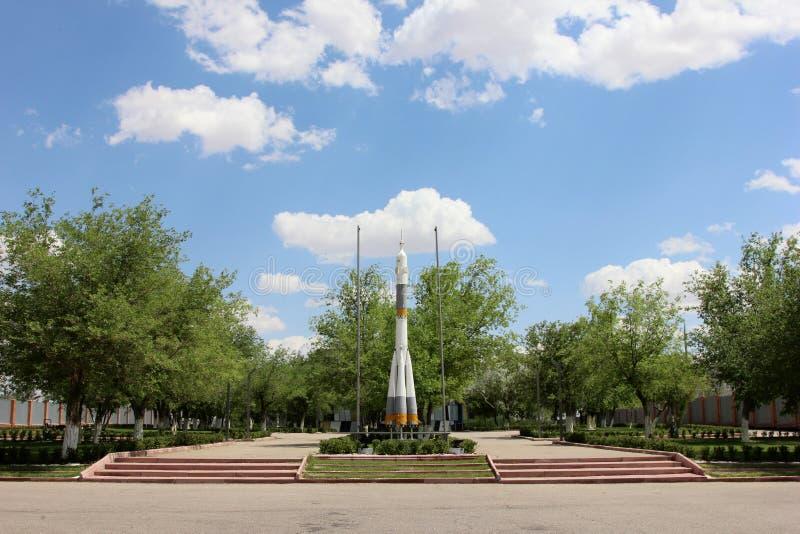 布局太空火箭soyuz 免版税库存图片
