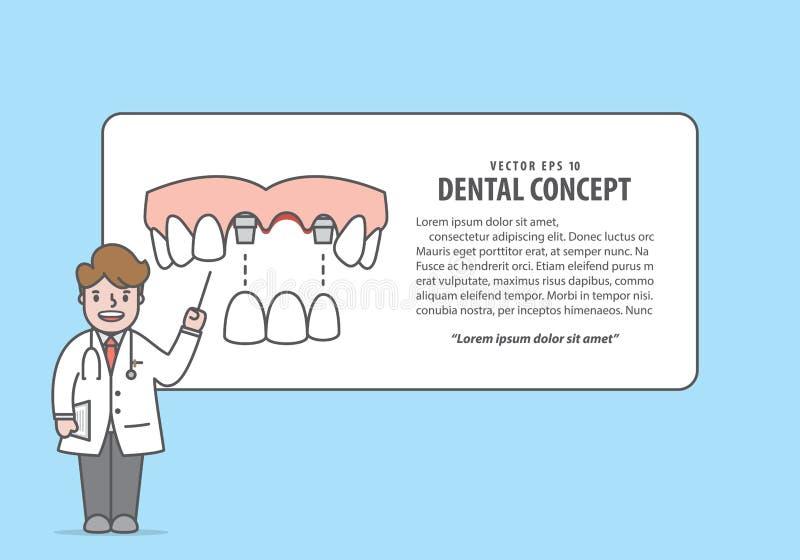 布局跨接牙上部与正文框和医生动画片styl 皇族释放例证