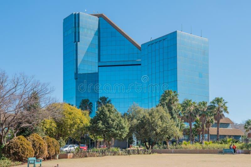 布拉姆菲舍尔大厦在布隆方丹 免版税库存照片