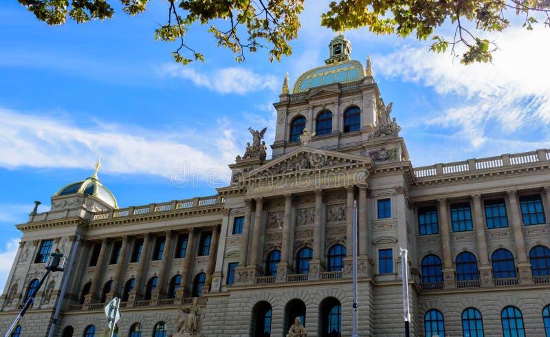 布拉格国家博物馆,捷克的最重要的博物馆的主要门面 库存照片
