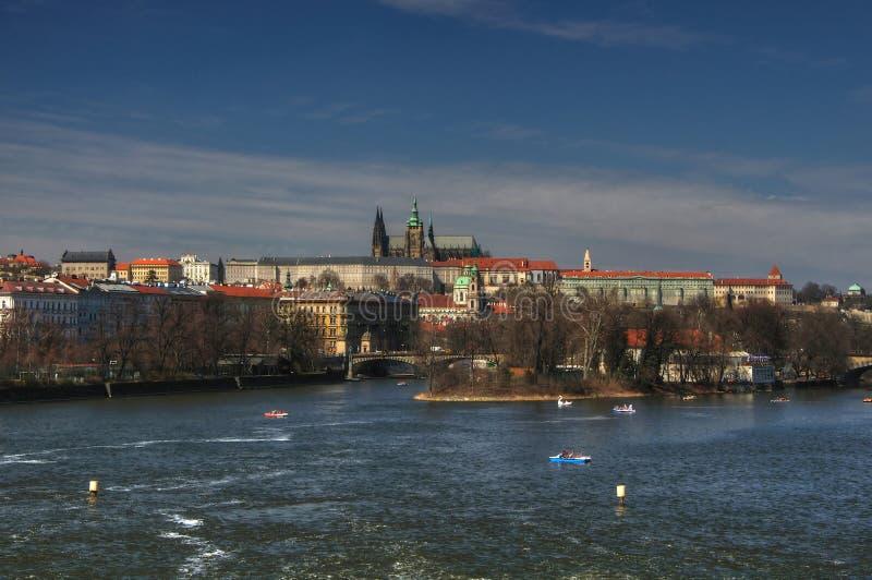 布拉格城堡全景 库存照片