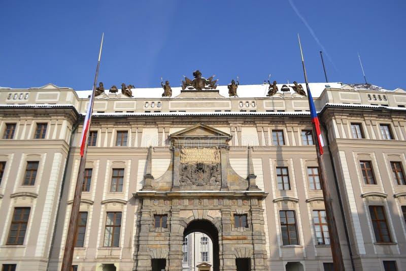 布拉格城堡的宫殿 库存照片