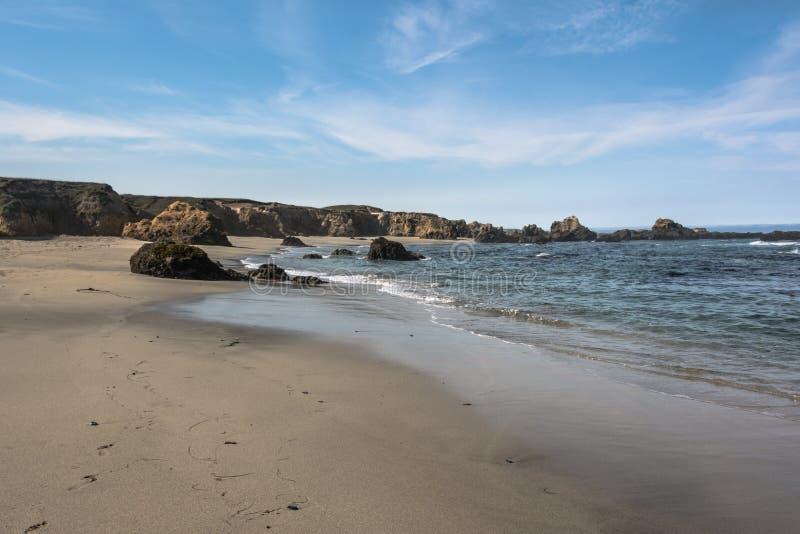 布拉格堡沙子海滩,加利福尼亚 库存图片