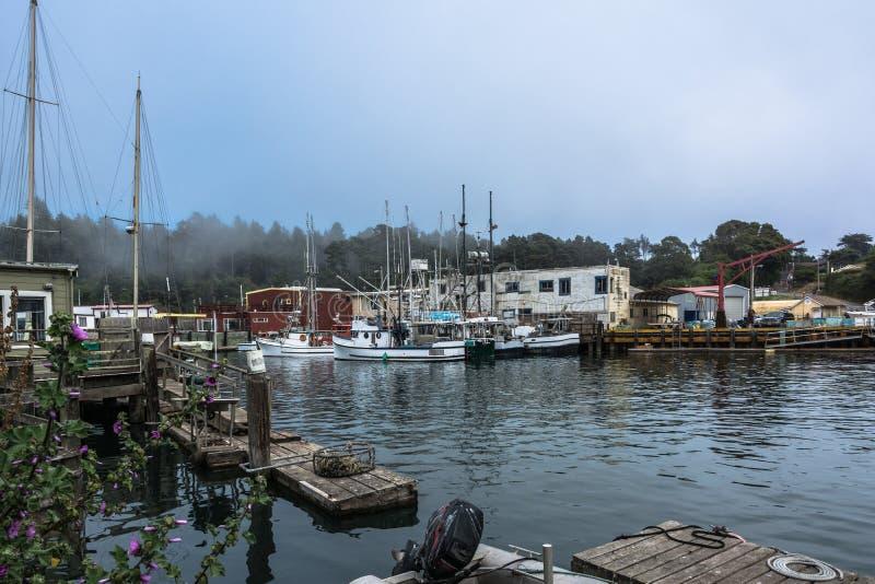 布拉格堡港口,加利福尼亚 库存图片