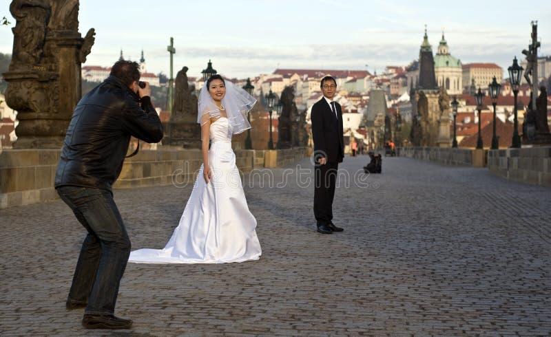 布拉格婚礼 免版税库存图片
