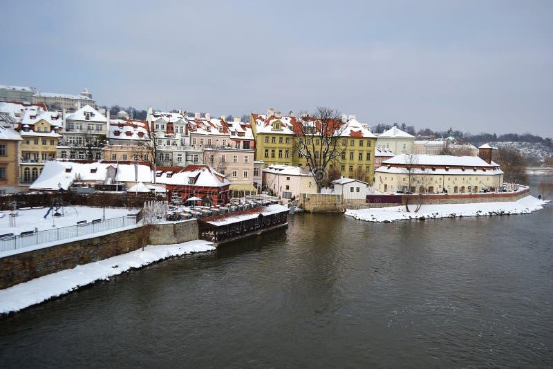 布拉格市看法  免版税库存图片