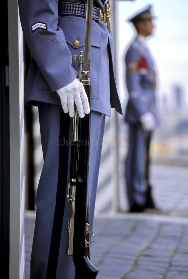 布拉格总统哨兵 库存照片