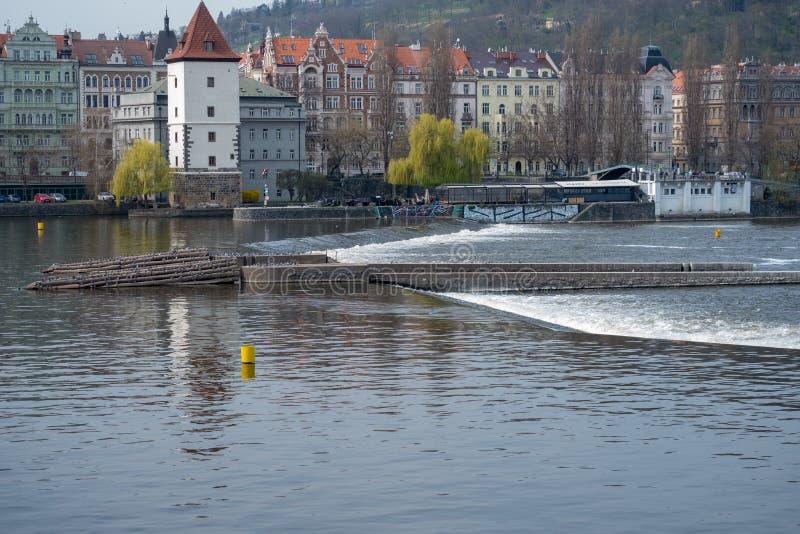 布拉格捷克,全景城市地平线 免版税库存照片