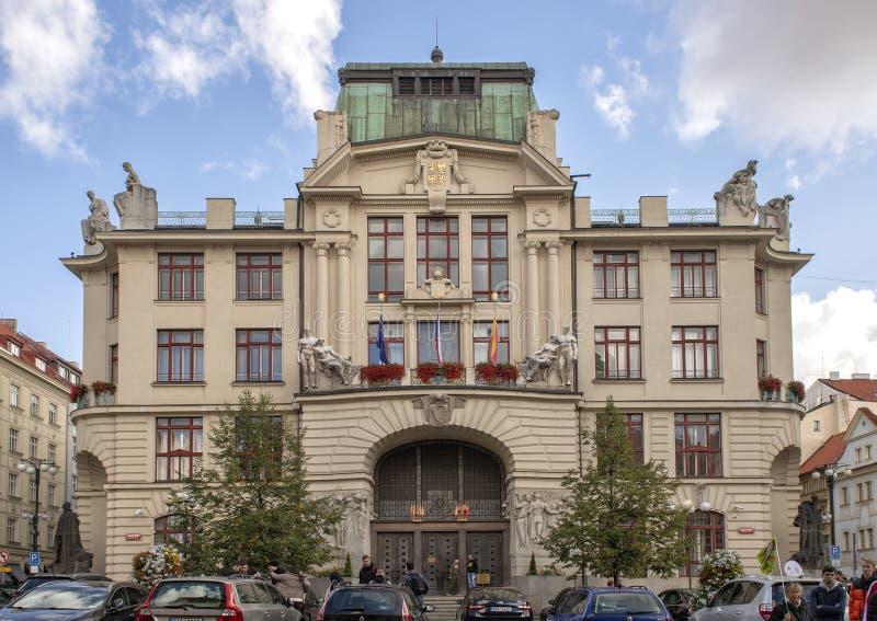布拉格新的政府大厦,布拉格,捷克 库存图片