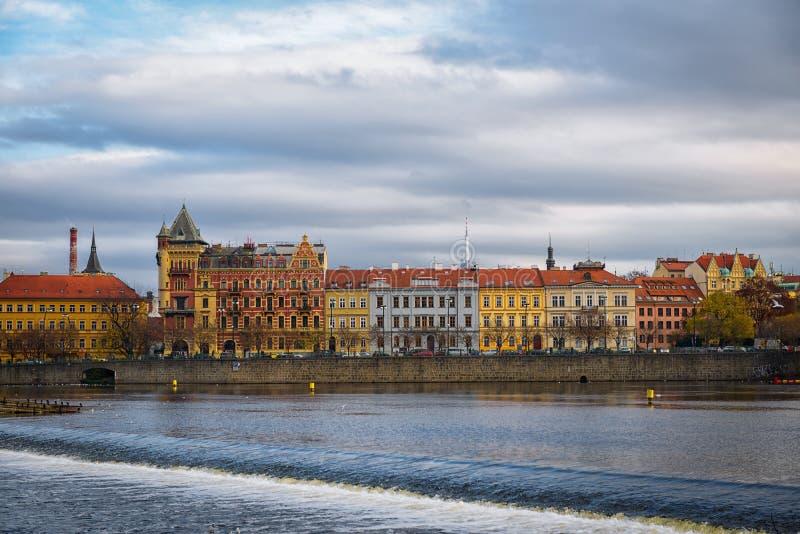 布拉格早晨捷克 免版税库存照片