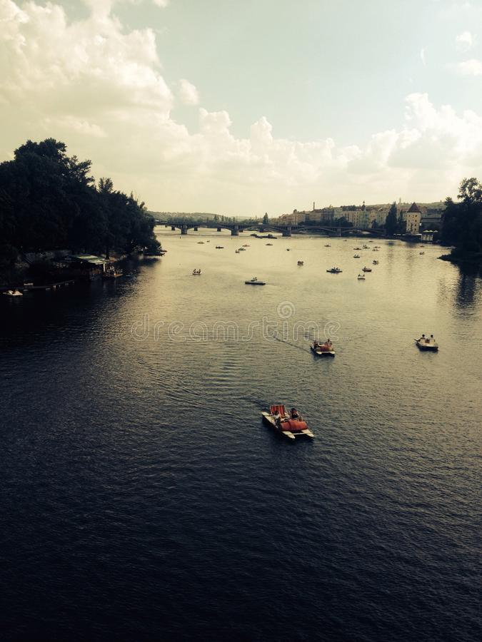 布拉格河Carls桥梁 库存照片