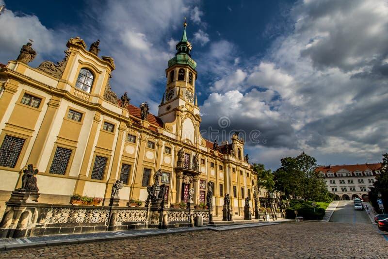 布拉格洛雷托省在夏天,捷克 库存照片