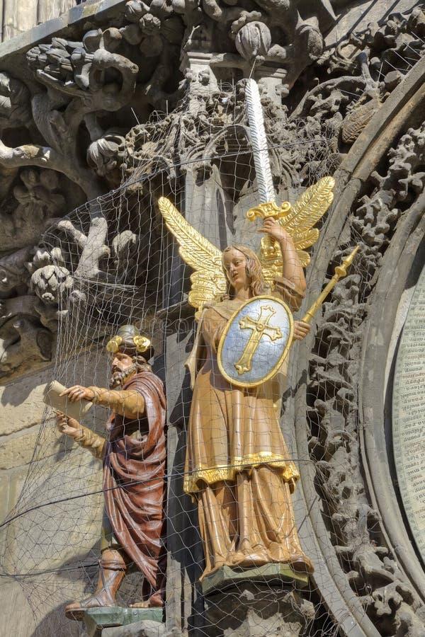 布拉格编钟。 雕塑 库存图片