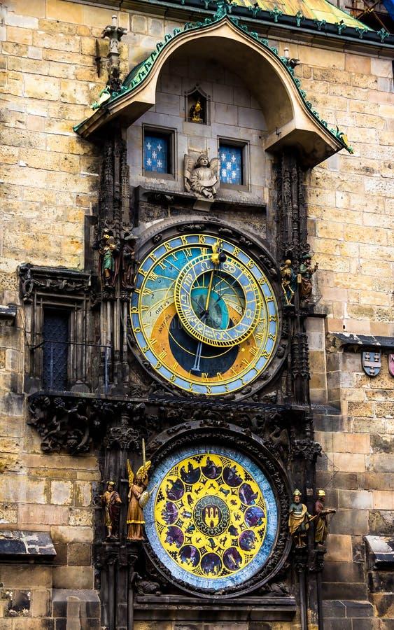 布拉格编钟 中世纪钟楼 库存照片