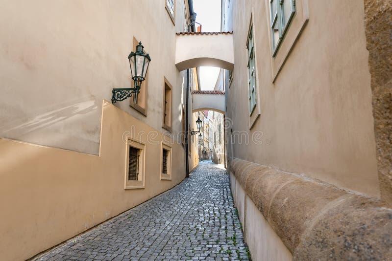 布拉格老城市中心欧洲街 图库摄影