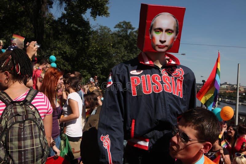 布拉格自豪感同性恋者节日 库存图片