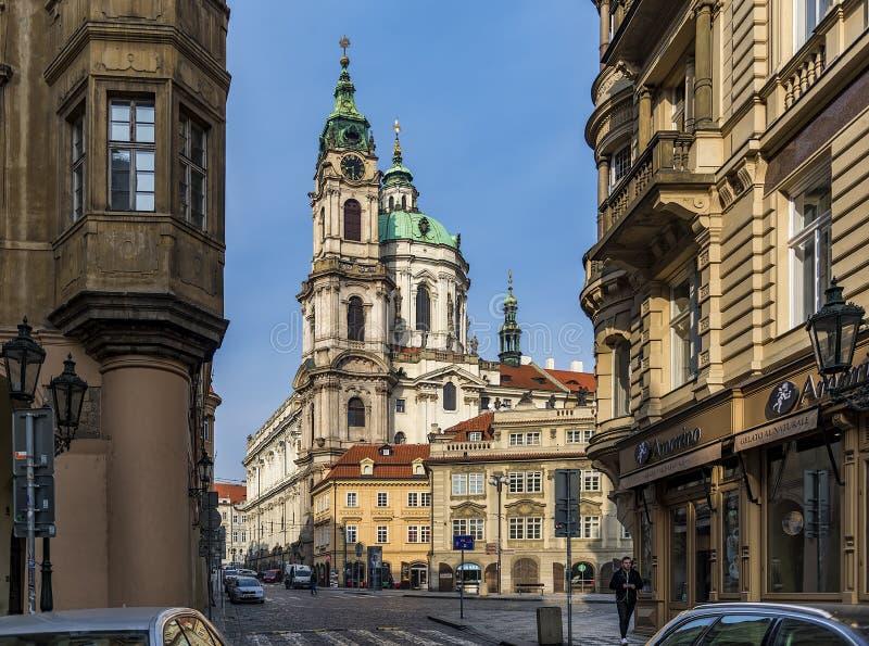 布拉格街道在捷克 库存图片