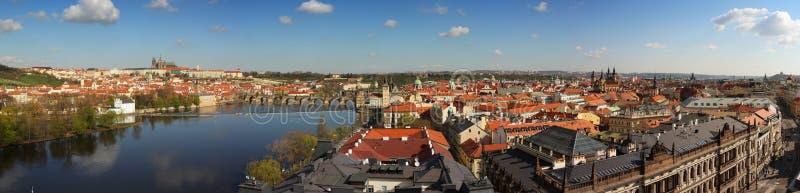 布拉格,捷克共和国全景 库存照片