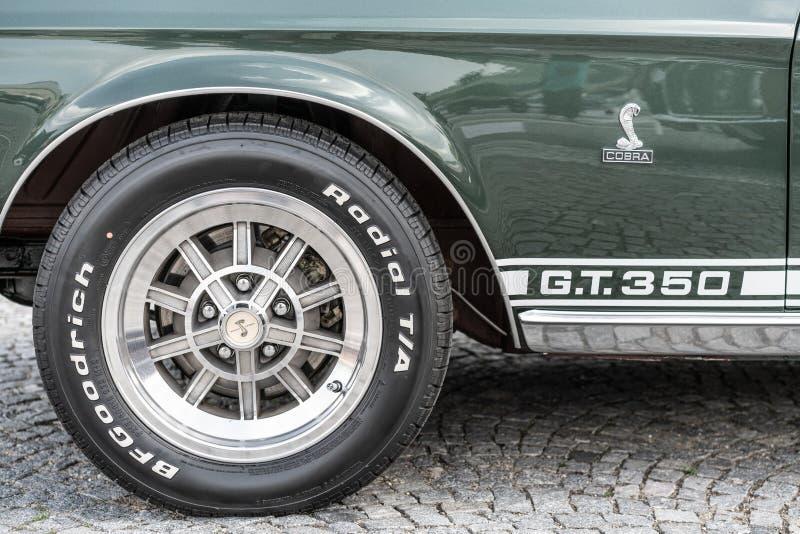 布拉格,捷克共和国- 16/5/2019 Ford Mustang GT 350 库存图片