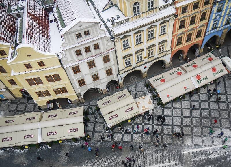 布拉格,捷克Repulic, 15 01 2013年:在房子的看法和 库存照片