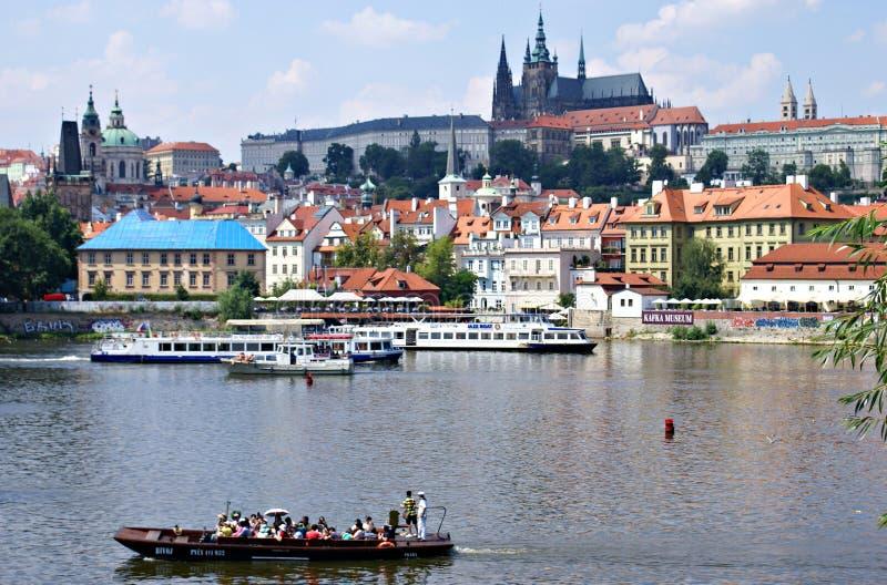 布拉格-伏尔塔瓦河河的 库存照片