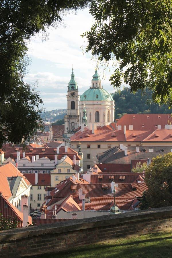 布拉格-圣尼古拉斯教会宝石  免版税库存照片